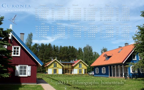 Curonia calendars - Ethnographic homesteads