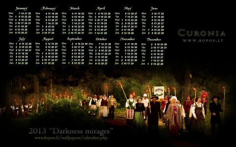 Curonia calendars - Darkness mirages